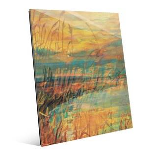 Apricot Reeds Wall Art Print on Acrylic