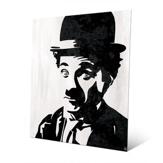 'Charlie Chaplin' Graphic Metal Wall Art