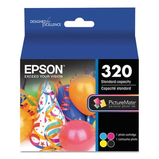 Epson T320P PictureMate 400 Print Pack Black/Cyan/Magenta/Yellow Ink & Photo Paper