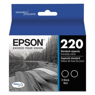 Epson T220120D2 (220) DURABrite Ultra Ink Black 2/Pack