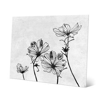 'White Flowers' Wall Art Print on Metal
