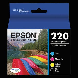 Epson T220120BCS (220) DURABrite Ultra Ink Black/Cyan/Magenta/Yellow