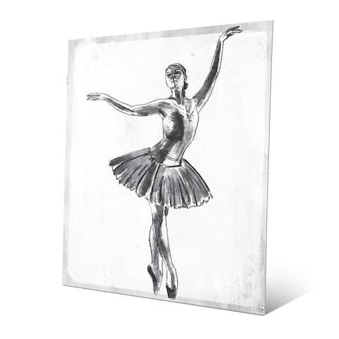 'Elegant on White' Metal Print Wall Art