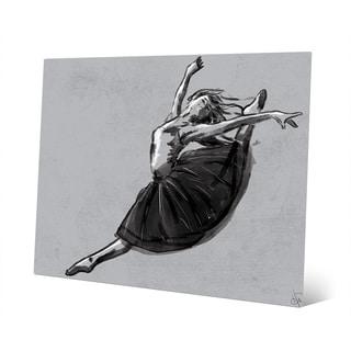 'Ballet Jete' Grey Metal Wall Art Print
