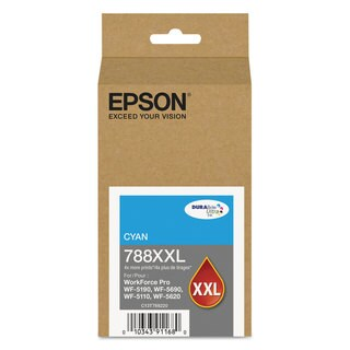 Epson T788XXL220 (788XXL) DURABrite Ultra XL PRO High-Yield Ink Cyan