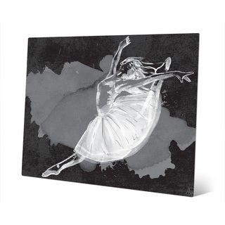 'Ballet Dancer on Black' Metal Wall Art