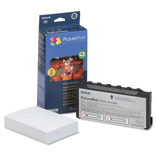 Epson T5570M (T5570-M) PictureMate Print Pack Tri-Color Ink and Matte Photo Paper