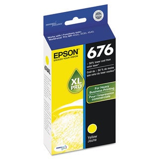 Epson T676XL420 (676) DURABrite Ultra High-Yield Ink Yellow
