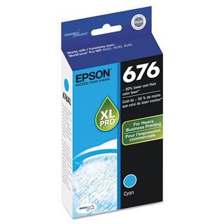 Epson T676XL220 (676) DURABrite Ultra High-Yield Ink Cyan