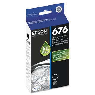 Epson T676XL120 (676) DURABrite Ultra High-Yield Ink Black