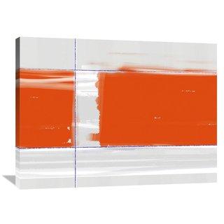 NAXART Studio 'Orange Rectangle' Stretched Canvas Wall Art
