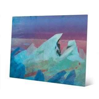 Cerulean Glacier Metal Wall Art Print