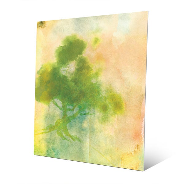 Chartreuse Sumi Tree\' Metal Wall Art Print - Free Shipping Today ...