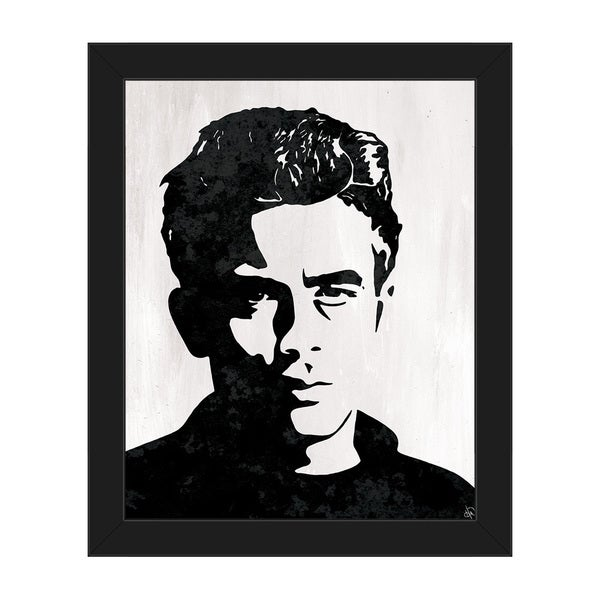 James Dean Framed Canvas Wall Art Print  sc 1 st  Overstock.com & Shop James Dean Framed Canvas Wall Art Print - Free Shipping Today ...