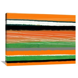 Naxart Studio 'Orange and Green Abstract 3' Stretched Canvas Wall Art