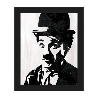 'Charlie Chaplin' Framed Canvas Wall Art Print