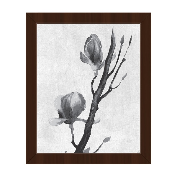 Flowers on a Vine Framed Canvas Wall Art Print