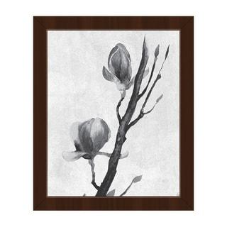 Flowers on a Vine Framed Canvas Wall Art Print