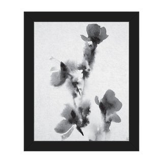 Floral Stamp Framed Canvas Wall Art Print