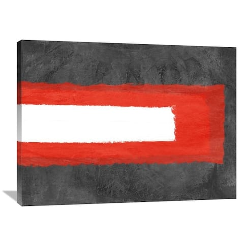 NAXART Studio 'Grey and Red Abstract 6' Stretched Canvas Wall Art