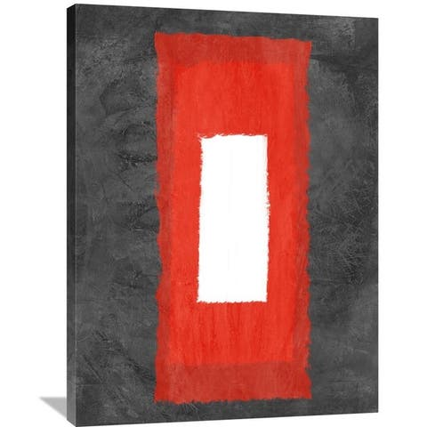 NAXART Studio 'Grey and Red Abstract 4' Stretched Canvas Wall Art