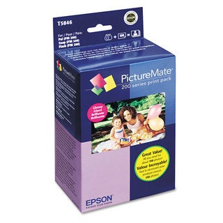Epson T5846 PictureMate 200 Print Pack Black/Cyan/Magenta/Yellow Ink & Photo Paper