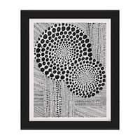 'Radiance' Black-on-white Framed Canvas Wall Art