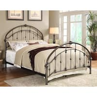 Furniture of America Aurielle Brushed Bronze Metal Platform Bed