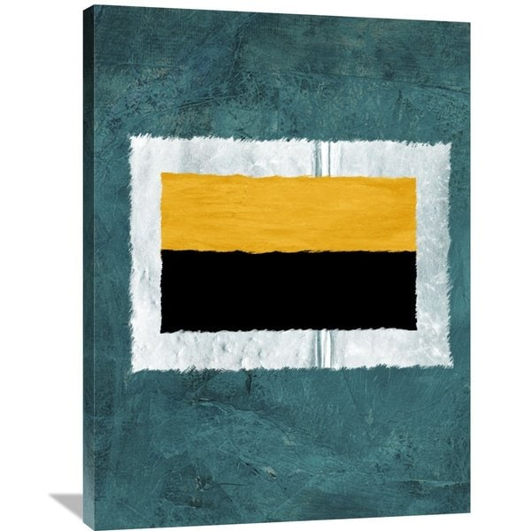 Naxart Studio 'Green And Yellow Abstract Theme 5' Stretched Canvas Wall Art