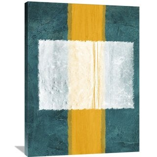 NAXART Studio 'Green and Yellow Abstract Theme 3' Stretched Canvas Wall Art