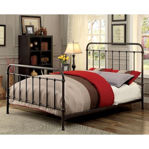 Furniture of America Norielle Industrial Twin Metal Powder Coated Bed