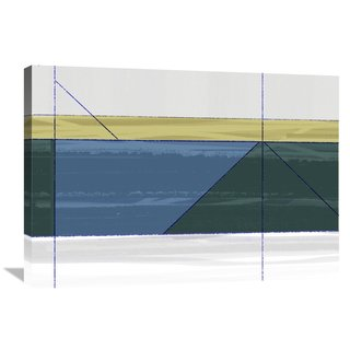 Naxart Studio 'Green Triangle' Stretched Canvas Wall Art