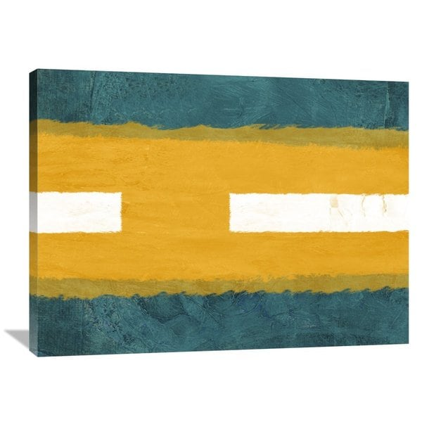 NAXART Studio \'Green and Yellow Abstract Theme 1\' Stretched Canvas ...