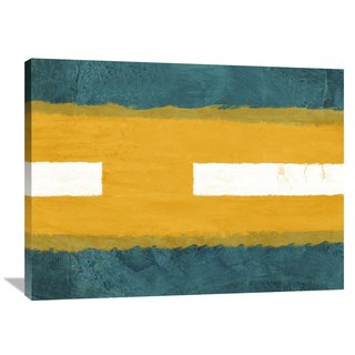 NAXART Studio 'Green and Yellow Abstract Theme 1' Stretched Canvas Wall Art