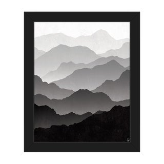 'Contrast in Distance' Framed Canvas Wall Art Print