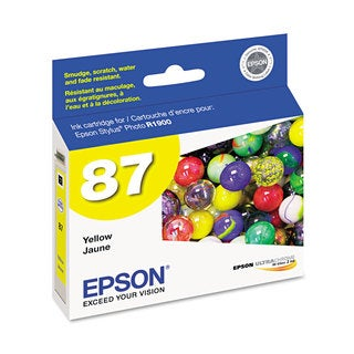 Epson T087420 (87) UltraChrome Hi-Gloss 2 Ink Yellow