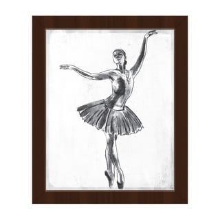 'Elegant on White' Framed Canvas Wall Art Print