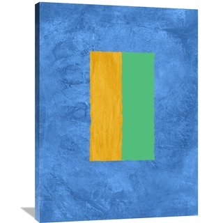 Naxart Studio 'Blue And Square Theme 2' Stretched Canvas Wall Art