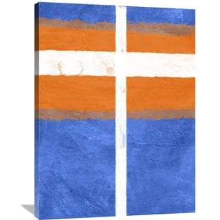 Naxart Studio 'Blue And Orange Abstract Theme 3' Stretched Canvas Wall Art