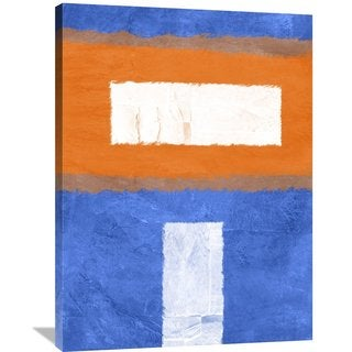 Naxart Studio 'Blue And Orange Abstract Theme 2' Stretched Canvas Wall Art