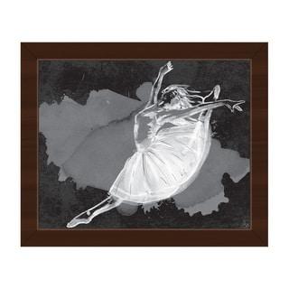 'Ballet Dancer' on Black Framed Canvas Wall Art