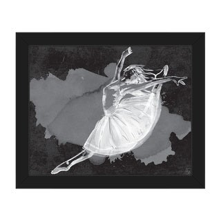 Ballet Dancer on Black Framed Canvas Wall Art