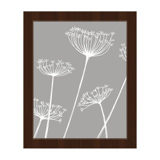 Meadow Flowers White and Grey Framed Canvas Wall Art