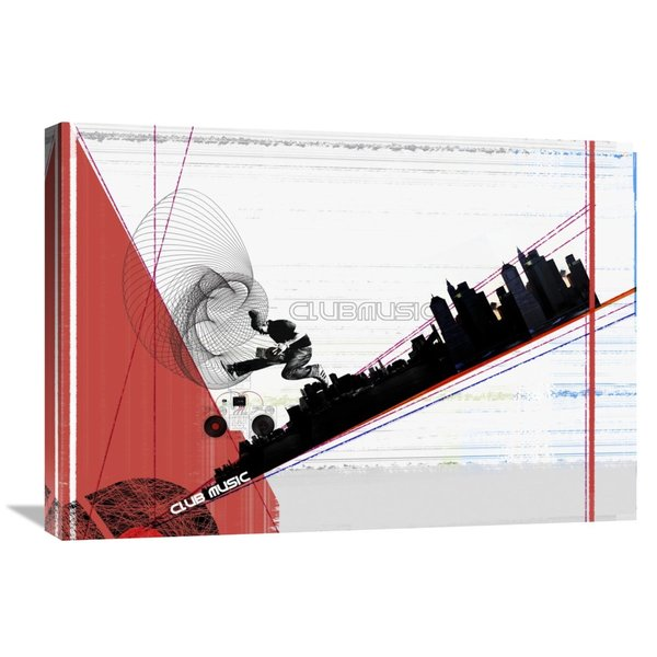NAXART Studio 'Club Music' Stretched Canvas Wall Art