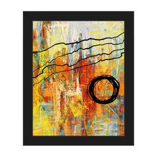 Harmonious Orange Crisis Framed Canvas Wall Art