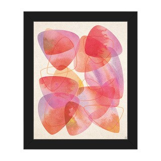 Shedding Scales Pink Framed Canvas Wall Art Print