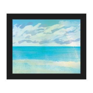 Azure Scenery Print Framed Canvas Wall Art