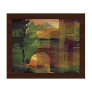 'Citrine Pass' Canvas Framed Wall Art Print