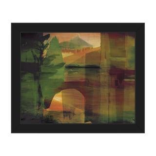 'Citrine Pass' Framed Canvas Wall Art