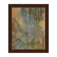 'Yellow Forest Screen' Framed Canvas Wall Art Print